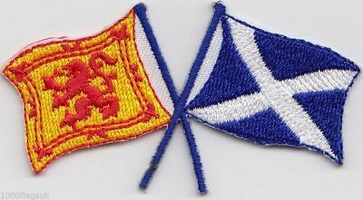 Scotland Scottish Lion Rampant and Saltire Flag Embroidered Badge Patch