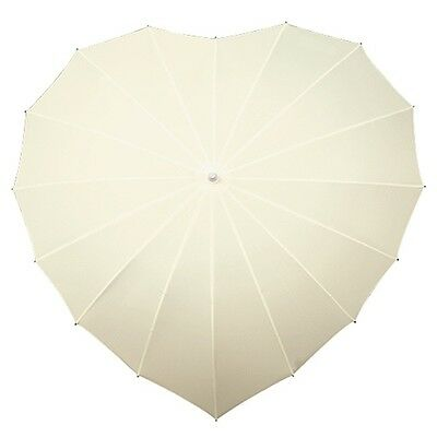 Heart Shaped Wedding Umbrella - Ivory