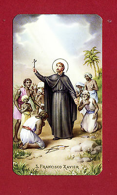 SANTINO SAN FRANCESCO SAVERIO    IMAGE PIEUSE - HOLY CARD-  Heiligenbild