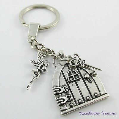 Pixie Fairy House Charm Keychain Keyring 104mm Great Gift