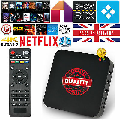 2016 Quad Core Android 4.4 TV Box Fully Loaded XBMC KODI Free Movies NEW as M8S