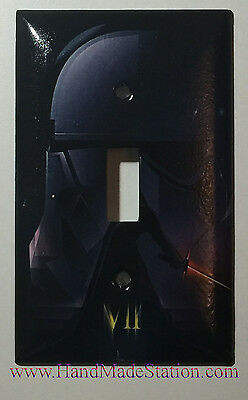 Star Wars Darth Vader Light Toggle Switch Power Outlet Cover Plate Home Decor