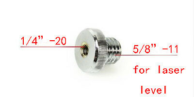"1/4""-20 to 5/8""-11 Threaded Female to Male for Tripod to laser level Adapter"