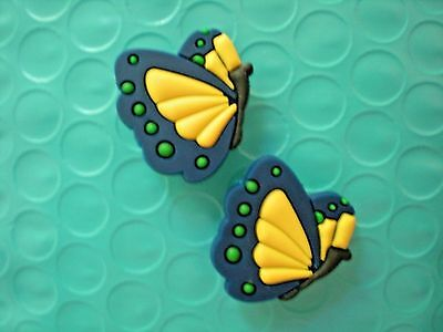 Jibbitz Croc Clog Shoe Charms Plug Wristband Bracelet Accessories Blue Butterfly