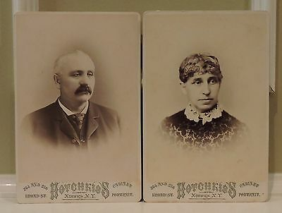 CDV. Two Cabinet cards by Hotchkiss of Norwich, New York.