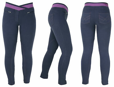 HyPERFORMANCE Brixton Ladies Elasticated Pull On Horse Riding Jodhpurs Breeches