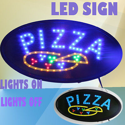 LED Pizza open sign Animated LED advertising sign for  BUSINESS Restaurant sign