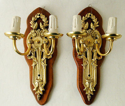 Antique French Louis XV style bronze pair of scounces New candles