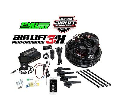 Air Lift Performance 3H Complete Management with 1/4″ Line – Air Ride Suspens...
