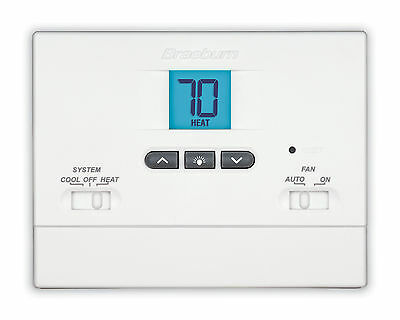 Braeburn 1000NC Digital 1 Heat/1 Cool Non-Programmable Tamper Proof Thermostat