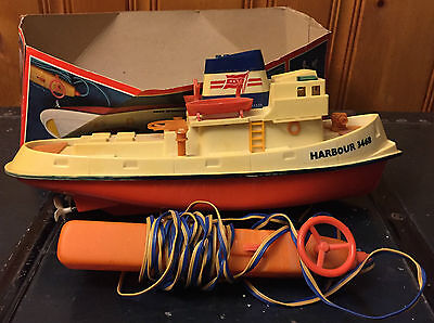 Vintage Harbour Tug Boat 3468, Einco, Remote Control, Battery Operated, Plastic