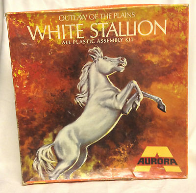 Vintage 1969 Aurora White Stallion Outlaw of the Plains Model Kit, Partly built