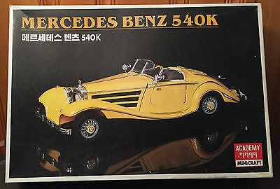 Mercedes Benz 540K Academy Minicraft Model Kit, 1/16th scale, Kit #1516,