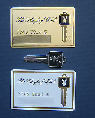 Playboy Key and Cards - Vintage 1960's