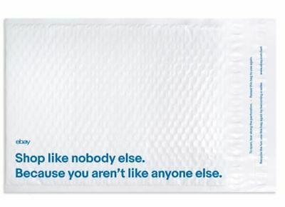 "NEW 15 White and Blue eBay Branded Airjacket Padded Envelopes 9.5"" x 13.25"""