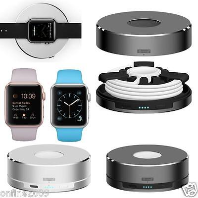 New 1500mAh Wireless Charger Station Dock Aluminium Holder Stand for Apple Watch