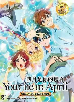 Anime Your Lie In April Vol.1-22 End + OVA DVD Box set Eng Sub ALL Region