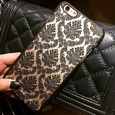 New Hard Back Damask Case Cover For Apple iPhone & Samsung Galaxy