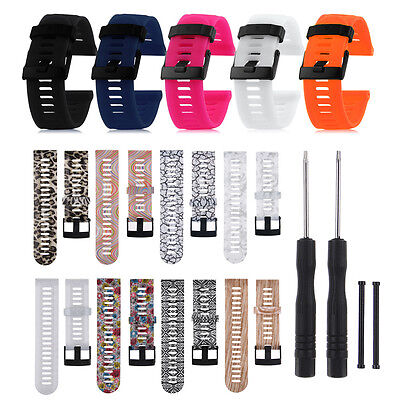 Silicone Watch Band Strap Bracelet + Tools For Garmin Fenix 3/HR GPS Sport Watch