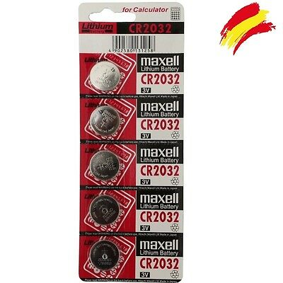 5 X Pilas Boton Maxell Bateria Cr2032 De Litio 3V Lithium Battery Dl2032 5004Lc