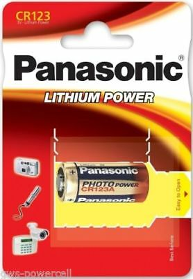 1 x Pila Panasonic CR123 3V LITIO CAMARA FOTO123A DL 123A EL CR123AP BATTERY