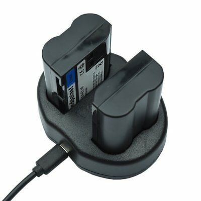 USB Dual Digital Battery Charger for Nikon Li-ion Batteries EN-EL15 ENEL15 EN EL