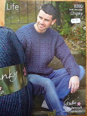 Gents Chunky Cabled Sweater Knitting Kit