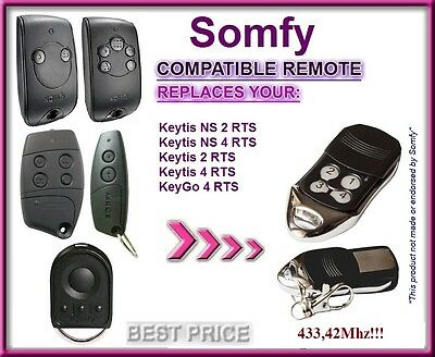 SOMFY Keytis NS 2 RTS, Somfy Keytis 4 NS RTS compatible remote control 433,42Mhz