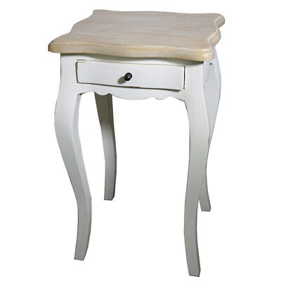 White Nightstand Side Table Provencal French Country Furniture Bedroom Antiques