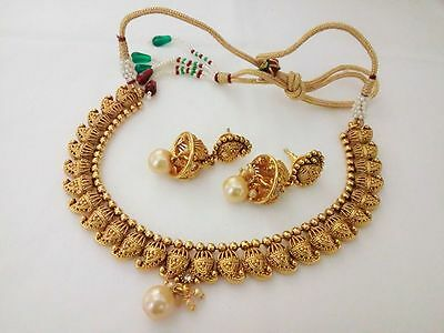 New Indian Fashion Jewelry necklace set Bollywood ethnic Gold plated traditional