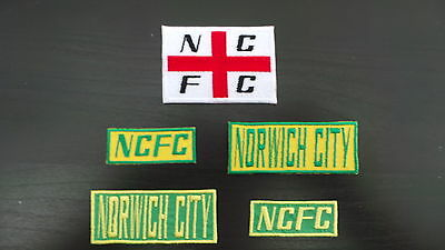 Norwich City Supporters Embroidered Iron On/Sew On Patch Choice of Designs