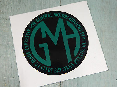 Holden Vintage Look Reproduction Battery Label Sticker For Early Gmh Batteries.