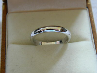 Clogau 9ct White Welsh Gold 3mm Windsor Collection Wedding Ring size M RRP £360