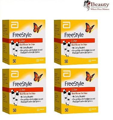 4 x Freestyle Lite Diabetic Blood Glucose Testing Strips 200/strips