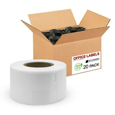 20 Rolls of 30251 Compatible Address Labels for DYMO 1-1/8'' x 3-1/2''