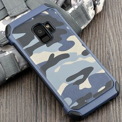Camouflage Samsung Galaxy S6 S7 S8 S9 Plus Note Military Case Camo Army Rubber