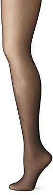 No Nonsense Women's Control Top with Sheer Toe Pantyhose, Off Black, B