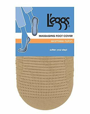 Leggs 3925 Seamless Nylon Foot Cover Size 5-9, Natural Brow