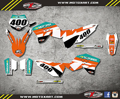 Custom Graphics full kit RECKLESS STYLE stickers KTM SXF 2007 - 2010