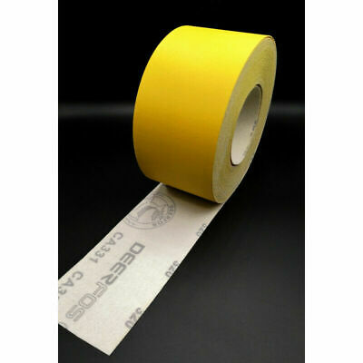 SANDPAPER ROLL HOOK AND LOOP SANDING  5 or 10 METERS Grits 40-240 115MM   (509)