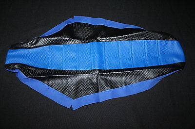 Yamaha Yz 85 Flu Black And Blue Pleated Full Gripper Seat Cover 2002-2014