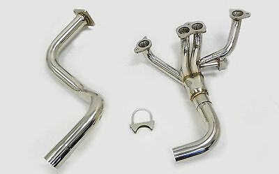 OBX Exhaust Stainless Header For 1987-1991 Jeep Wrangler 2.5L AMC 150 l4 2Pcs