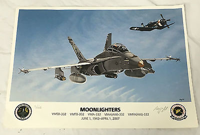 "2007 USMC F-18 Hornet ""Moonlighters"" Signed & Numbered Print"