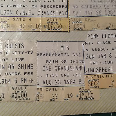 yes concert ticket 1984