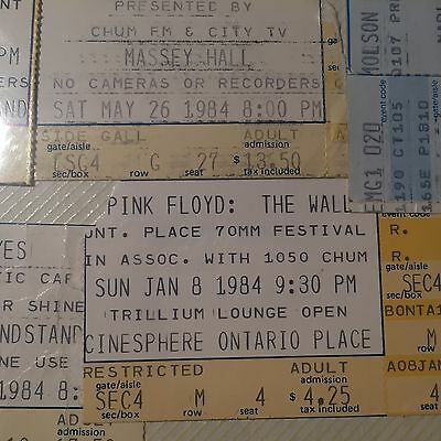 pink floyd the wall 70mm festival ticket 1984