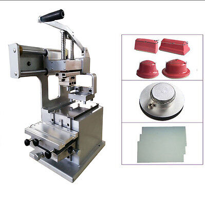 Pad Printing 1 Color Manual Pad Printer with Steel Plate & 4 Size Rubber Pads
