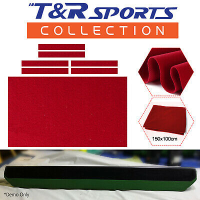 6x Single Side Red Cloth Strips for Pool Snooker Billiard Table Cushion 7FT 8FT