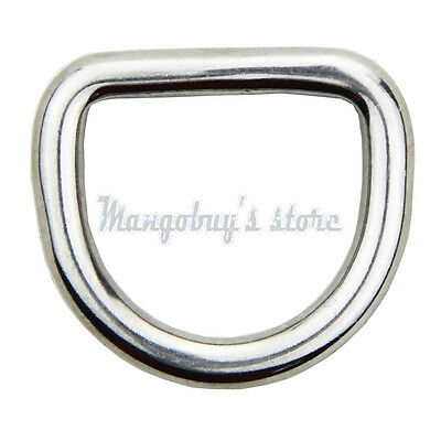 10PCS 5MM Forged 316 Stainless Steel Welded D Ring Boat Rigging Hardware