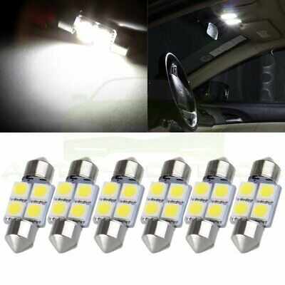 6X 31mm 4SMD 5050 White Car LED Festoon Interior Dome Map Trunk Light Lamp Bulbs