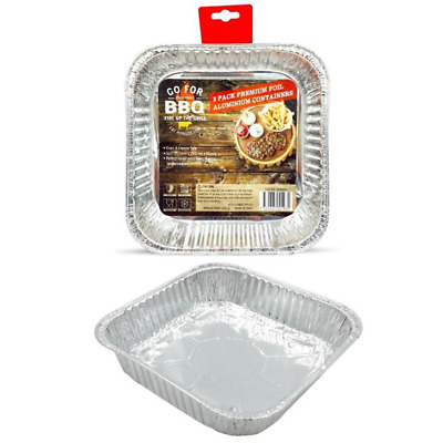 30 X Square Foil Containers - Party, Kitchen, Restaurant, Wedding, Event